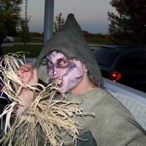 My sister Jerri in her costume she made Halloween 08
