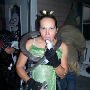 My sister Holly as Medusa Halloween 08