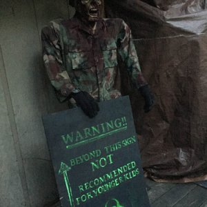 Captain Zombie w/sign