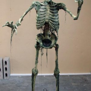 I got the raw version of Boogedy from Fright Theatre. It comes with the built-in steel armature, foot plates, latex, webbing and chip brushes for $200