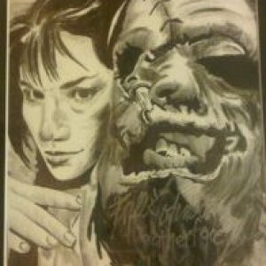 Leatherface Drawing Final and Autographed By Them Both!