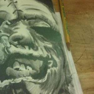 Leatherface Drawing In Progress