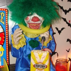 An evil clown inside that shakes and is waiting to hurt you.