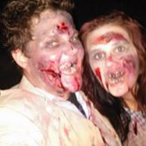 Zombie couple, aka Kay and Becca
