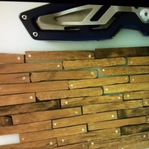 These are the finished planks after aging them and cutting away some sides so they seemed imperfect.