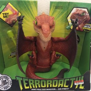 Dinosaur theme prop ideas.  Here's a few items that I've bought in recent years to use with a dino theme. This Terrordactyl from Mattel is ultra cool.