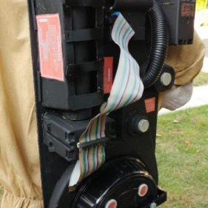 Close up of the finished proton pack.