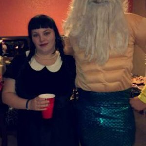 Me as Wednesday and friend as King Triton 2016