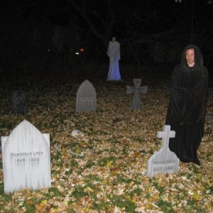 Me at night with some of my tombstones.