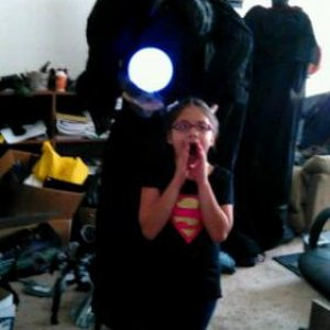 My daughter Samara hamming it up with the witch anf headless horseman