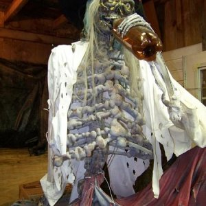 Drinking Pirate built for yard haunt in 2006, ended up using him when we joined up with the pro haunt.