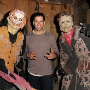 Got to meet Eli Roth, the Bear Jew, picture by Barry King