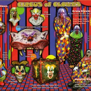 Here's a scan of the Haunted Enterprises catalog: Clowns.