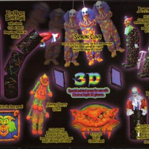 Here's a scan of the Haunted Enterprises catalog: 3D clowns.