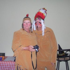 The couple's category costume contest winners.