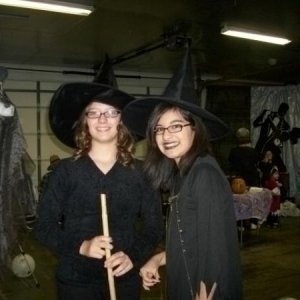 My Witchy Daughter and friend