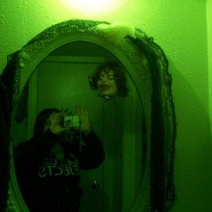 Exorcist bathroom... yes that is me in the mirror.