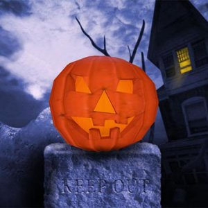 keep out halloween edition 3d screen saver 53998