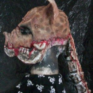 My NEW pig mask for Massacared Memories photo booth and attraction