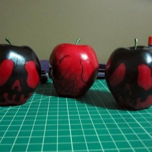 """Poison"" apples I made for my witch party."