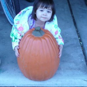Tanya with lg pumpkin