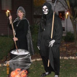 Witch Sharon and the Grim Reaper