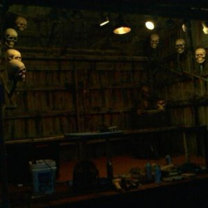 Massacred Memories is a photobooth attraction I run at The Haunted Mill Scream Park in Spring Gove, Pa. This is the mask booth where I sell my masks.
