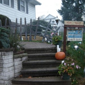 Steps Leading to Candy and Coffin Scare