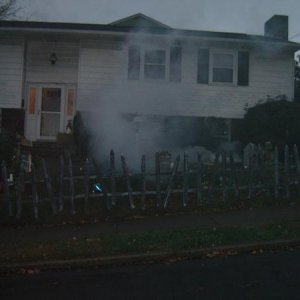 Right Yard (fog coming from coffin)