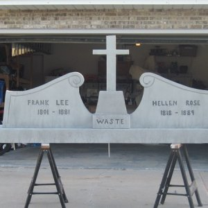 My first attempt at foam board tombstone. 9' x 4' Wish I did a different name...