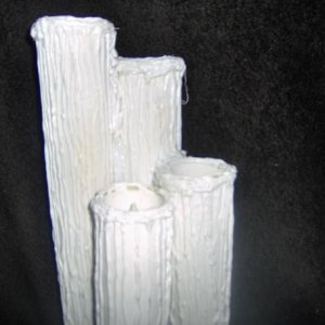 Creepy Candles, Here is my version of PVC pipe candles. Check out my You tube channel for the how to vid.