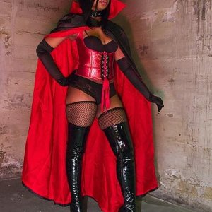 Vampirella Costume-Cape Made by Brenda