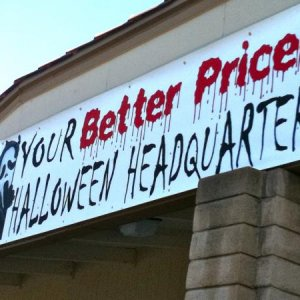 GOODWILL, 2010. Promoting their halloween merchandise.