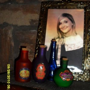 Potion bottles from Michael's and changing picture from Dollar General