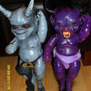 Ibought these dolls off off Ebay. I thought they would look cool at our party!