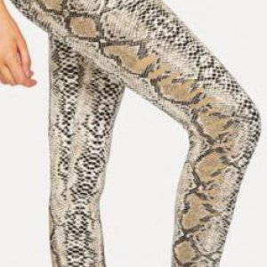 "snake skin leggings by shein. Leggings make a great ""skin"" for a snake prop. Some of really stretchy so you can add something inside of it a"