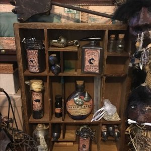 Witches Apothecary Cabinet