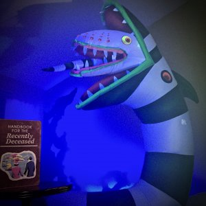 Blacklight Painted Sandworm and the Handbook for the recently deceased