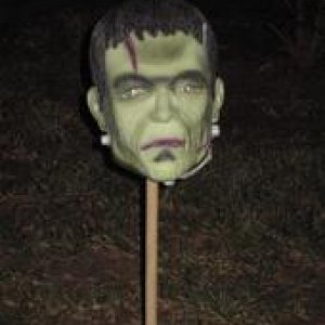 head on a stick