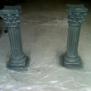 Pillars after they've been turned to stone