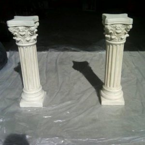 Pillars for talking busts - before