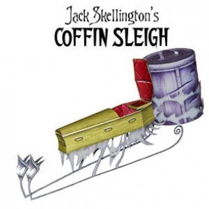 jack skellington coffin sleigh papercraft