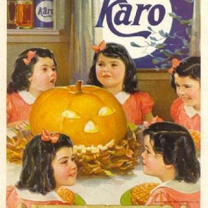 Dionne Quintuplets Halloween ad