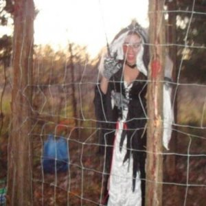Bride in sparking electric cage