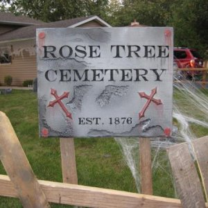 My Cemetery Sign....