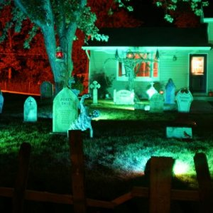My 2010 display night picture...first time decorating for Halloween...