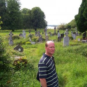 Old graveyard in Ireland