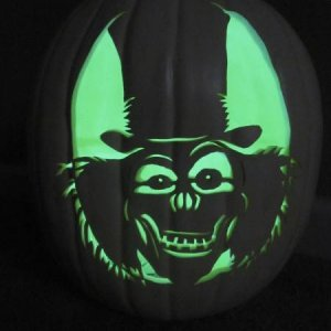 2010 - I wanted to send my Secret Reaper victim a Haunted Mansion jack-o-lantern but couldn't find a stencil anywhere so I made my own!