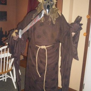 "The new 2010 ""Scarecrow"" Ghostface costume. Love this thing. lol"