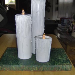 My PVC candles